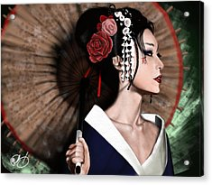 The Geisha Acrylic Print by Pete Tapang