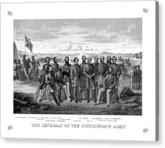 The Generals Of The Confederate Army Acrylic Print by War Is Hell Store