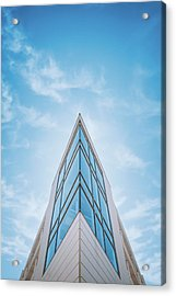The Glass Tower On Downer Avenue Acrylic Print by Scott Norris