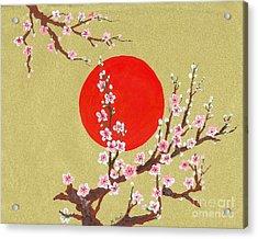 The Glory Morning Sakura Acrylic Print by Renu Martin