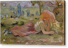 The Goatherd Acrylic Print by Berthe Morisot