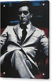 The Godfather 2013 Acrylic Print by Luis Ludzska