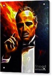 The Godfather Acrylic Print by Pamela Johnson
