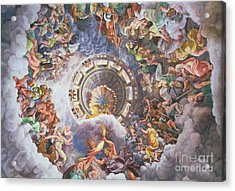 The Gods Of Olympus Acrylic Print by Giulio Romano