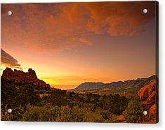 The Golden Hour Acrylic Print by Tim Reaves