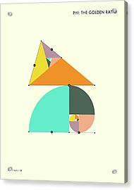 Phi - The Golden Ratio Acrylic Print by Jazzberry Blue