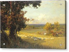 The Golden Valley Acrylic Print by Sir Alfred East