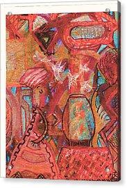 The Goldfish Bowl Acrylic Print by Anne-Elizabeth Whiteway