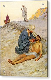 The Good Samaritan Acrylic Print by William Henry Margetson