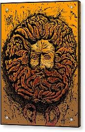 The Gorgon Man Celtic Snake Head Acrylic Print by Larry Butterworth