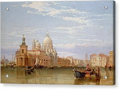 The Grand Canal - Venice Acrylic Print by George Clarkson Stanfield