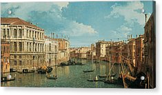 The Grand Canal Acrylic Print by Canaletto