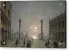 The Grand Canal From Piazza San Marco Acrylic Print by Henry Pether