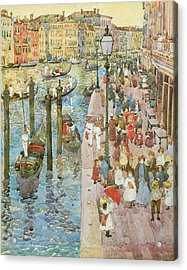 The Grand Canal Venice Acrylic Print by Maurice Prendergast
