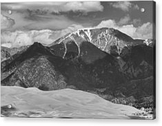 The Great Colorado Sand Dunes  125 Black And White Acrylic Print by James BO  Insogna