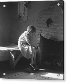 The Great Depression. Young Girl Acrylic Print by Everett