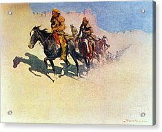 The Great Explorers Acrylic Print by Frederic Remington
