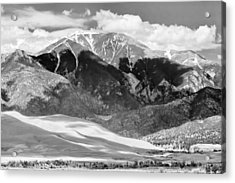 The Great Sand Dune Valley Bw Acrylic Print by James BO  Insogna