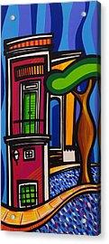 The Green Door Acrylic Print by Mary Tere Perez