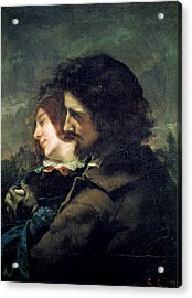 The Happy Lovers Acrylic Print by Gustave Courbet