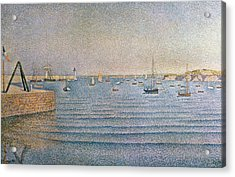 The Harbour At Portrieux Acrylic Print by Paul Signac