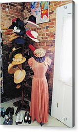 The Hat Rack Acrylic Print by Jan Amiss Photography