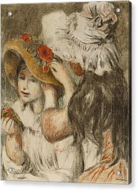 The Hatpin Acrylic Print by  Pierre Auguste Renoir
