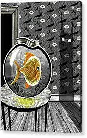 The Haunted Goldfish Bowl  Acrylic Print by Andrew Hitchen