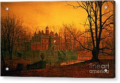 The Haunted House Acrylic Print by John Atkinson Grimshaw