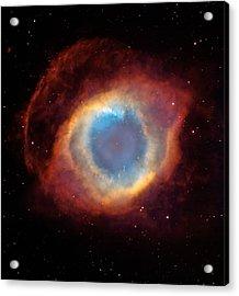 The Helix Nebula  Acrylic Print by Hubble Space Telescope