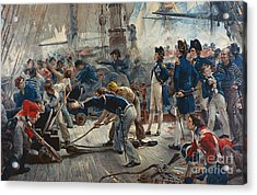 The Hero Of Trafalgar Acrylic Print by William Heysham Overend