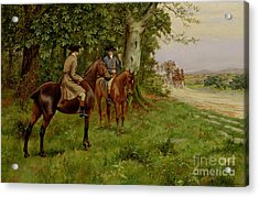 The Highwaymen Acrylic Print by George Derville Rowlandson