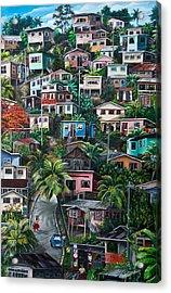 The Hill     Trinidad  Acrylic Print by Karin  Dawn Kelshall- Best