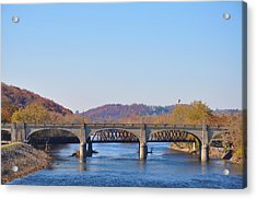 The Hill To Hill Bridge - Bethlehem Pa Acrylic Print by Bill Cannon