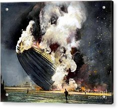 The Hindenburg, 1937 Acrylic Print by Granger