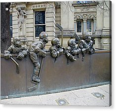 The Hockey Hall Of Fame - Toronto Canada Acrylic Print by Bill Cannon