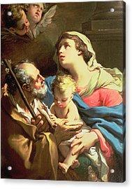 The Holy Family Acrylic Print by Gaetano Gandolfi