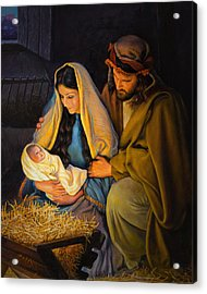 The Holy Family Acrylic Print by Greg Olsen