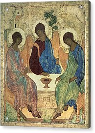 The Holy Trinity Acrylic Print by Andrei Rublev
