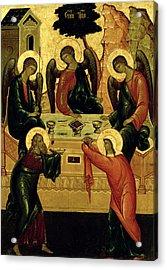 The Holy Trinity Acrylic Print by Novgorod School