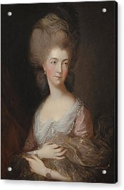 The Hon Mrs Anna Luttrell Duchess Of Cumberland  Acrylic Print by Celestial Images