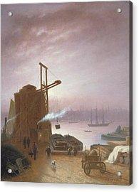 The Hudson River From Hoboken Acrylic Print by Robert Walter Weir