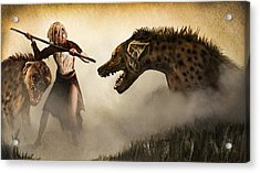 The Hyaenodons - Allie's Battle Acrylic Print by Mandem