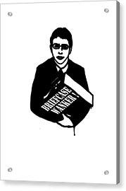 The Inbetweeners -  Briefcase Wanker Acrylic Print by Paul Telling