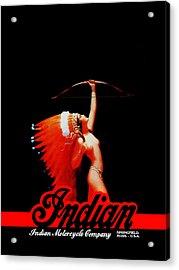 The Indian Motorcycle Company Acrylic Print by Mark Rogan
