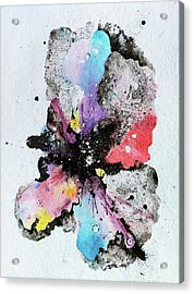The Inexplicable Ignition Of Time Expanding Into Free Space Phase Two Number 29  Acrylic Print by Mark M  Mellon