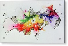 The Inexplicable Ignition Of Time Expanding Into Free Space Phase Two Number 30 Acrylic Print by Mark M  Mellon