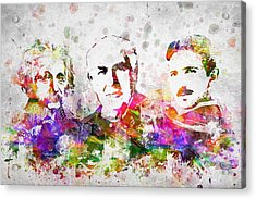 The Inventors Acrylic Print by Aged Pixel