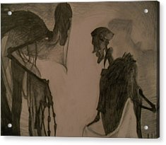 The Invisibility Cloak Acrylic Print by Lisa Leeman