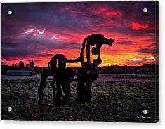 The Iron Horse Sun Up Acrylic Print by Reid Callaway